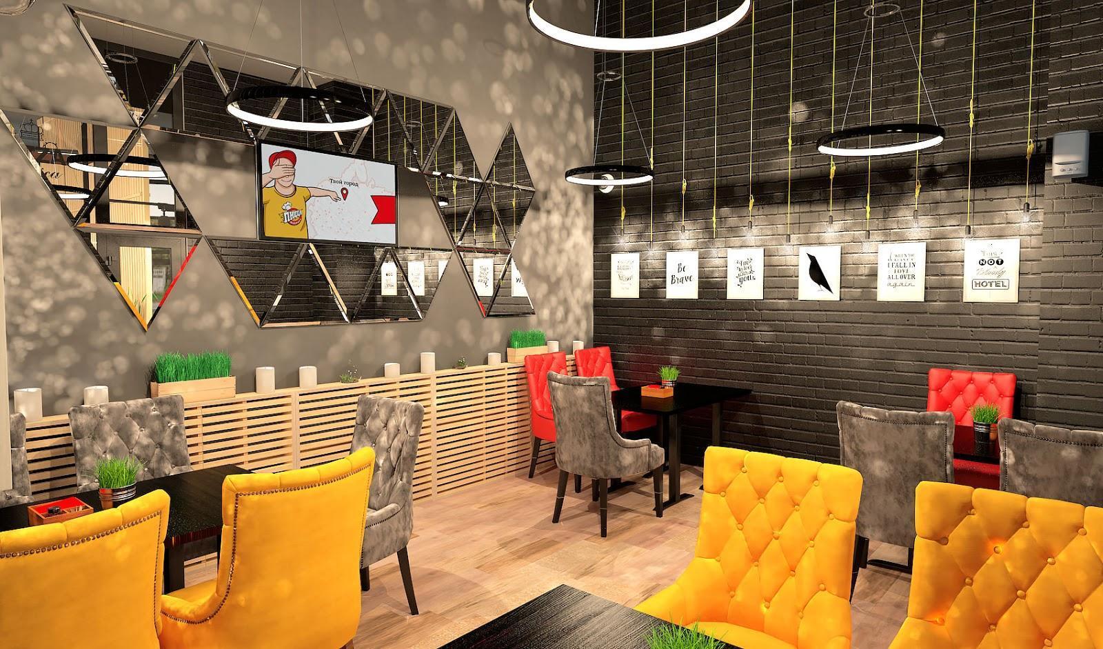 ПиццаФабрика Тольятти 3Д визуализация